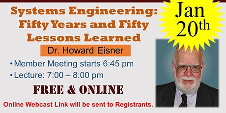 Systems Engineering: Fifty Years and Fifty Lessons Learned tickets