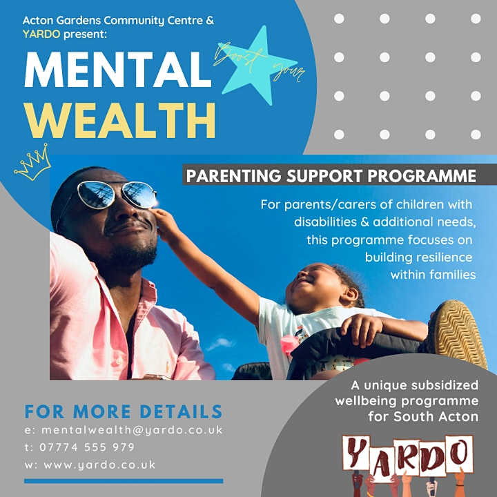 PARENTING SUPPORT GROUP; for families of children with additional needs image
