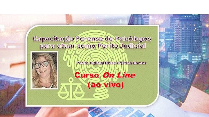 Imagem do evento ON LINE:Capacitação Forense de Psicólogos e para atuar como Perito Judicial