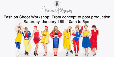 Vergara Photography fashion shoot workshop: From concept to post processing tickets