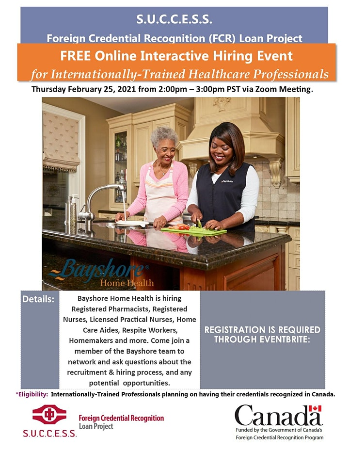 Hiring Event for Internationally-Trained Healthcare Professionals image