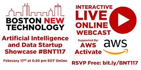Boston New Technology Artificial Intelligence/Data Startup Showcase #BN117 tickets