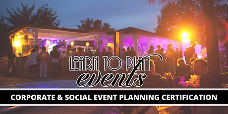 Event Planning Certification by LEARN TO PLAN EVENTS | Online tickets