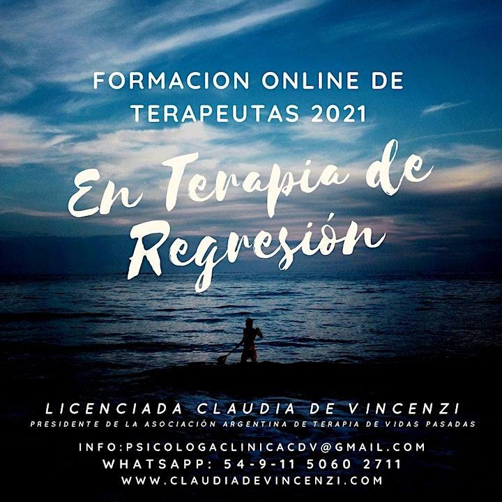 Imagen de FORMACIÓN  ONLINE DE TERAPEUTAS EN TERAPIA  DE  REGRESION 2021