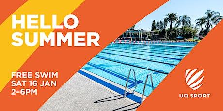 UQ Sport Aquatic Centre Free Swim tickets