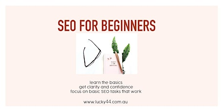 SEO For Beginners tickets