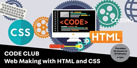 Code Club: Web Making with HTML and CSS tickets