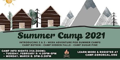 GSNorCal Summer Camp 2021 Family Info  Session tickets
