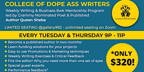 CODAW: Get Notice! The Business of Writing 8wk Mentorship Program tickets