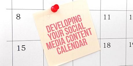 WEBINAR - Developing your 2021 Social Media Content Calendar tickets