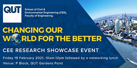 QUT School of Civil and Environmental Engineering Research Showcase Event tickets