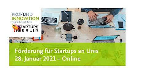 Unterstützung für Startups durch universitäre Inkubatoren Tickets