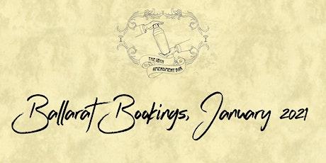 18th Amendment Bar Ballarat Bookings, January 2021 tickets