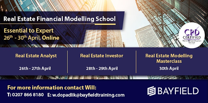 Bayfield Training - Real Estate Financial Modelling School - Virtual Course image