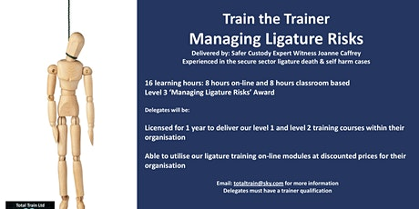 Train the Trainer. Managing Ligature Risks tickets