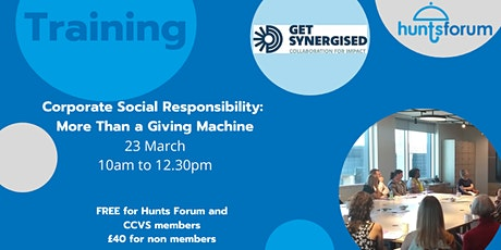 Corporate Social Responsibility: More than a Giving Machine tickets