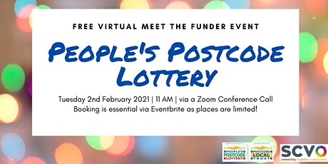 FREE Virtually Meet The People's Postcode Lottery and Trusts tickets