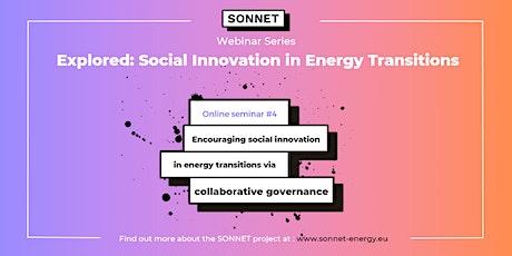 Encouraging social innovation in energy via collaborative governance tickets