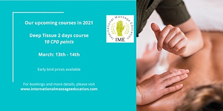 Deep Tissue Massage Course tickets