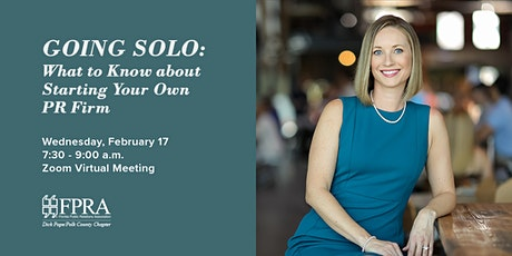 February Virtual Meeting: What to Know about Starting Your Own PR Firm tickets