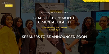 Black History Month & Mental health tickets