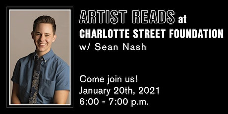 Artist Reads @CharlotteStreet with Sean Nash tickets