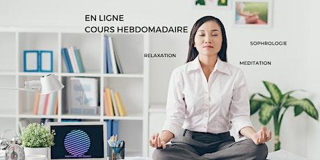 EN LIGNE Hebdomadaire: Cours de Gestion du Stress - Sophrologie billets