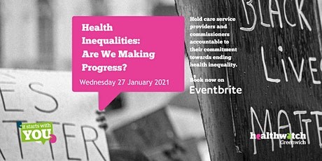 Health Inequalities  – Are We Making Progress? tickets