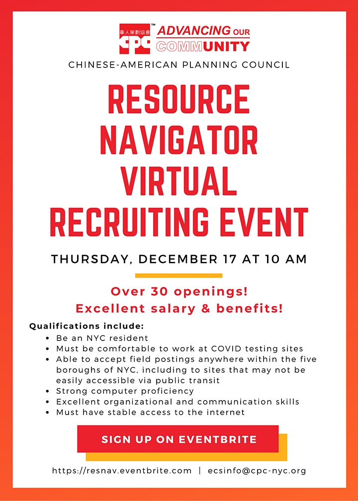 Resource Navigator Virtual Recruitment Event image