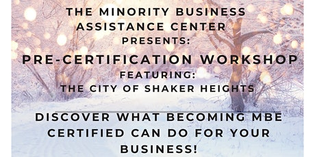 Pre- Certification Workshop Featuring The City of Shaker Heights tickets