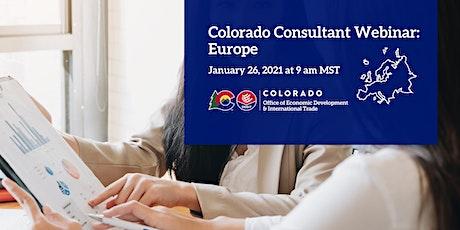 Colorado Consultant Webinar: Europe tickets