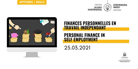 CEE: Finances personnelles en travail indépendant tickets
