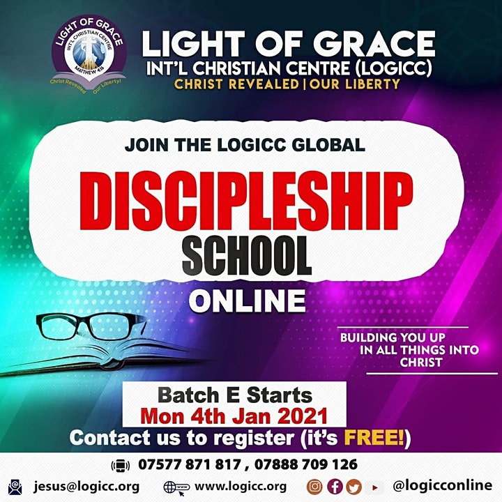 GLOBAL ONLINE DISCIPLESHIP SCHOOL (Starting Mon 4 Jan 21)  - ENROLLING NOW! image
