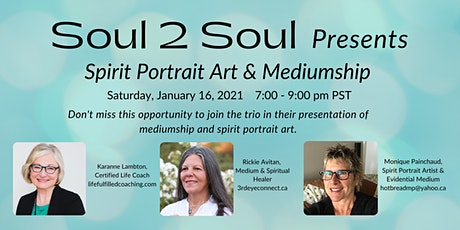 Spirit Portrait Art and Mediumship Messages from Loved Ones tickets