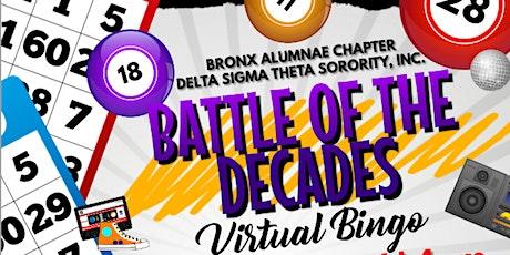 Battle of the Decades: Virtual BINGO tickets
