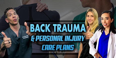 Back Trauma & Personal Injury Care Plans tickets