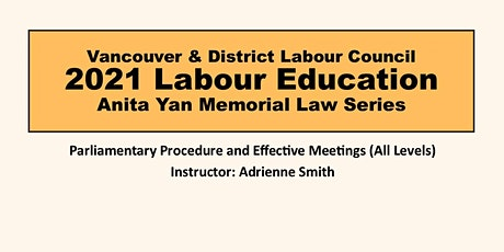 Parliamentary Procedure and Effective Meetings tickets