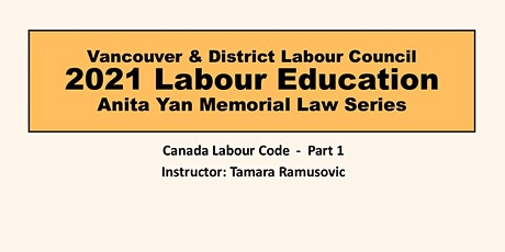 Canada Labour Code - Part 1 tickets