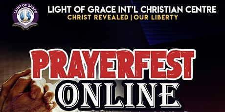 PRAYERFEST - Online weekly prayer tickets