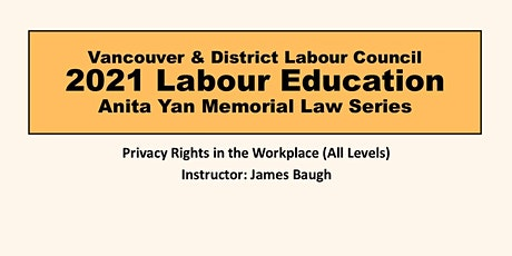 Privacy Rights in the Workplace tickets