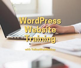 WordPress Website Training with YellowWebMonkey tickets