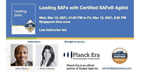 Leading SAFe 5.0 - Singapore - 10th March 2020 tickets