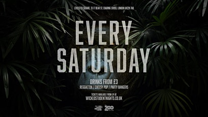 Zoo Bar every Saturday // Student Drink Deals // Open till 3AM tickets