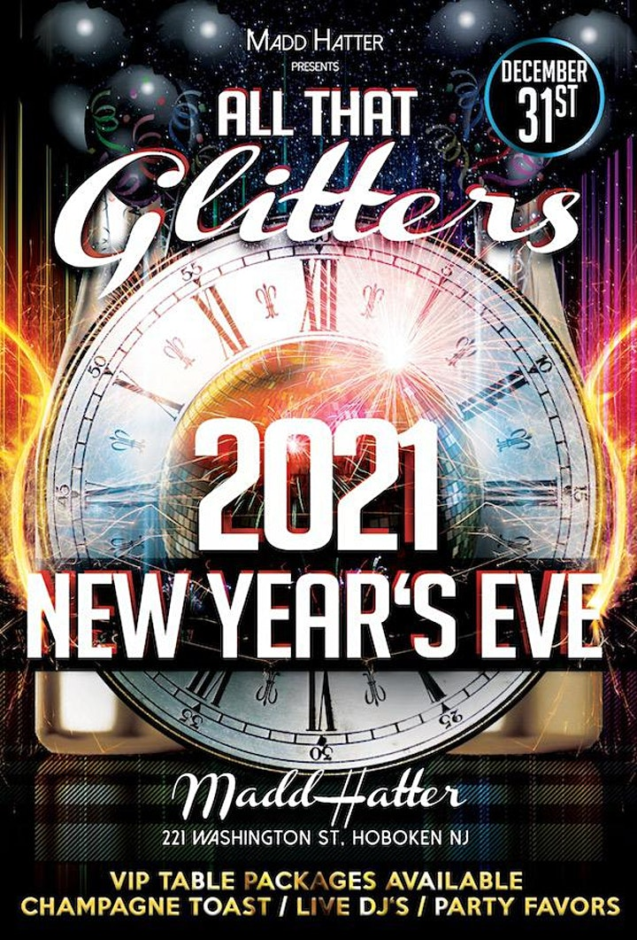 """Madd Hatter """"All That Glitters"""" New Year's Eve 2021 image"""