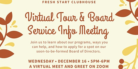 Virtual Tour and Board Service Informational Event tickets