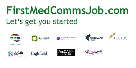 FirstMedCommsJob Workshop: How MedComms supports the global Pharma industry tickets