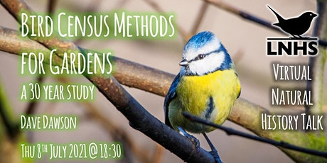 Bird Census Methods for Gardens - a 30 year study by Dave Dawson tickets