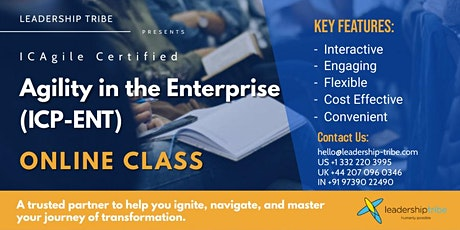 Agility in the Enterprise (ICP-ENT) | Part Time - 020221 - New Zealand tickets