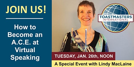 How to Become an A.C.E. at Virtual Speaking  with Lindy MacLaine tickets