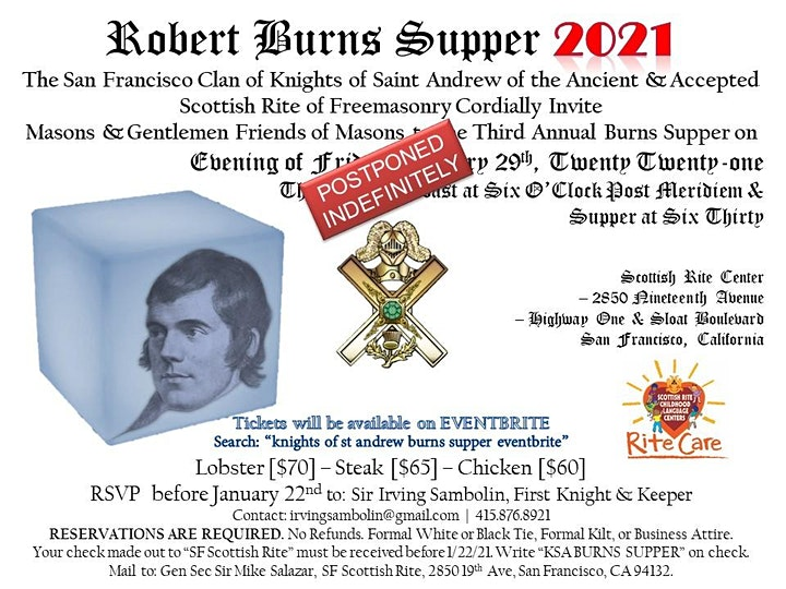 Robert Burns Supper 2021 - POSTPONED image